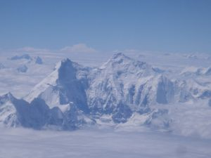 The Mount Everest fully snow covered