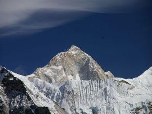 Makalu, the fifth highest mountain in the world, in the Himalayas