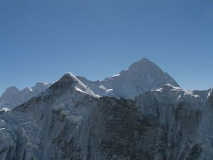 The Makalu, marking the border between Nepal and Tibet