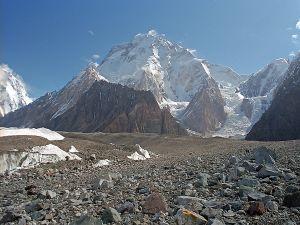 The Broad Peak or K3, Karakoram, on the border between China and Pakistan