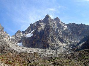 Mount Kenya, the highest mountain in Kenya (Africa)