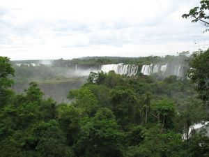 The Iguazu Falls view from Argentine side