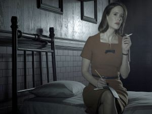 "Sarah Paulson plays to Lana Winters in ""American Horror Story: Asylum"""