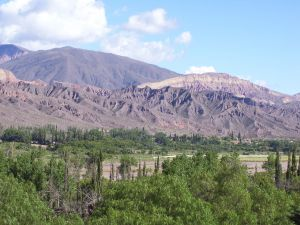 View of the hills from Tilcara (Jujuy, Argentina)