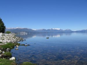 Nahuel Huapi Lake seen from the coast of San Carlos de Bariloche (Argentina)
