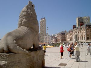 Monument to the sea lion (symbol of the city), Mar del Plata, Argentina