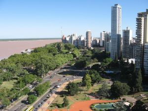 Rosario and Paraná River (at background), Argentina