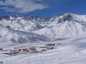 Las Leñas, an Andean ski resort, in Mendoza, Argentina