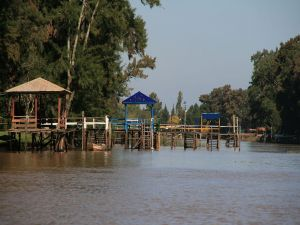 Pier in the Lower Delta of the Paraná River, Buenos Aires, Argentina