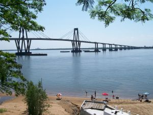 General Manuel Belgrano Bridge, on the Parana River (Argentina)