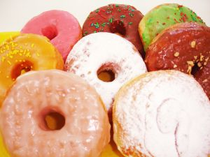 Donuts of different flavors