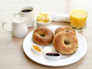 Bagels for the breakfast