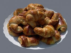 Croissants on a plate