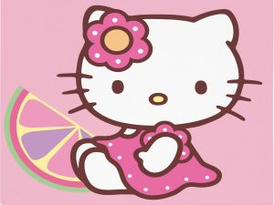 "The kitten ""Hello Kitty"""