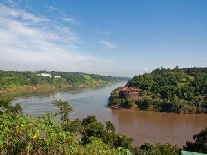 Confluence of the rivers Parana and Iguazu (Argentina)
