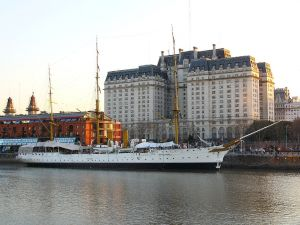 "Frigate ""President Sarmiento"" in Puerto Madero (Buenos Aires, Argentina)"