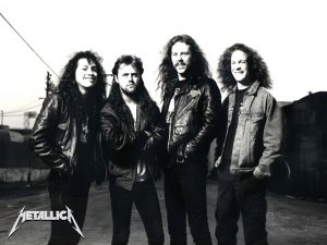 The members of the group Metallica