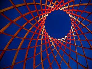 "Artistic construction called ""OVO"", Luminale 2012 (Frankfurt, Germany)"