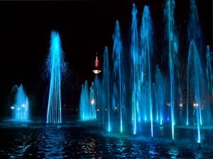 Water dance in Frankfurt, Germany