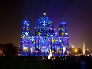 "Berlin Cathedral during the ""Festival of Light 2012"""