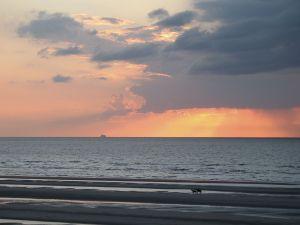 The evening light in the North Sea (Oostduinkerke, Belgium)