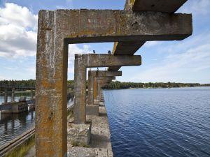 Old Soviet base of submarines, Lahemaa National Park, Estonia