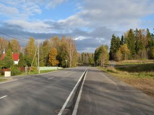Road in Aegviidu, Estonia