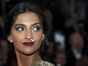 The Indian actress Sonam Kapoor