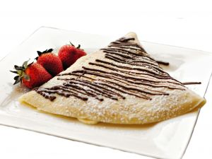 Crepe with chocolate