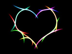 Heart of colored lights