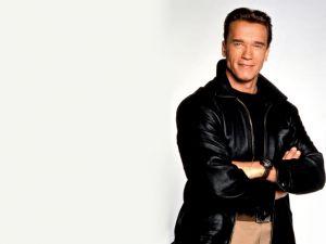 An elegant Arnold Schwarzenegger