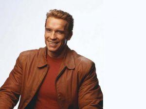 Arnold Schwarzenegger smiling