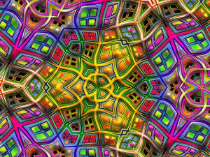 Psychedelic forms and colors