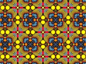 Circular shapes in a kaleidoscope