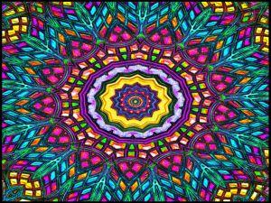 Multicolor kaleidoscope