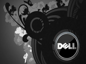 DELL, black and white flowers