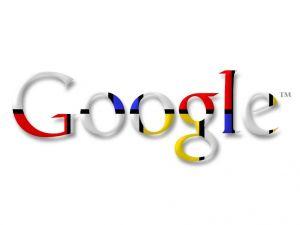 Google logo, in tribute to painter Piet Mondrian