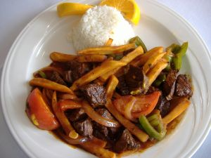 Lomo saltado, typical food of Peru