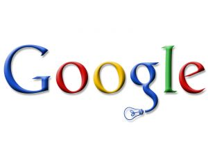 Google logo with a lightbulb