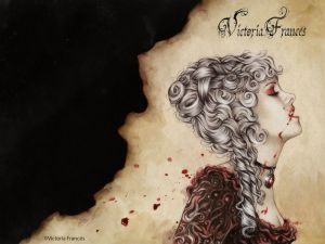 Lady Vampire, illustration by Victoria Francés