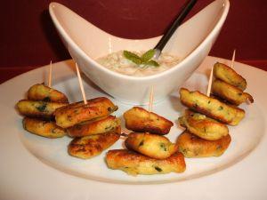 Snacks of zucchini