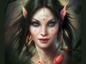 Woman-Elf with feline eyes