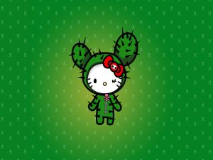 Hello Kitty disguised as a cactus