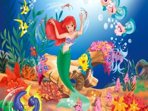 The Little Mermaid by Disney dancing under the sea