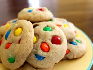 Cookies with M&M's