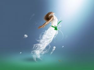 Woman-jellyfish
