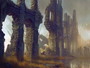 Walls in ruins