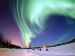 Aurora Borealis over Lake Bear (Alaska, USA)