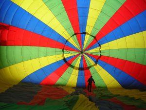 Inside of an aerostatic balloon