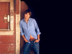 The American model and actor Ashton Kutcher